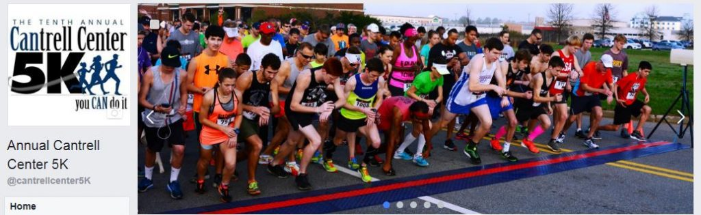 """Click the image above and """"Like"""" the official Facebook page for the Annual Cantrell Center 5K & Fun Run!"""