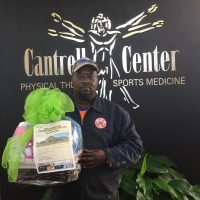 Derrick Lofton winner of City of WR Health Fair basket